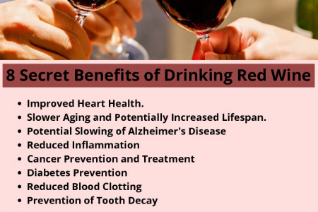 8 Secret Benefits of Drinking Red Wine Infographic