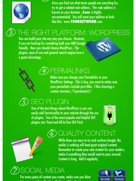 8 Simple Steps to Search Engine Optimization Infographic