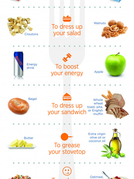 Hack Your Health: 8 SMALL Diet Adjustments that Make a BIG Difference Infographic