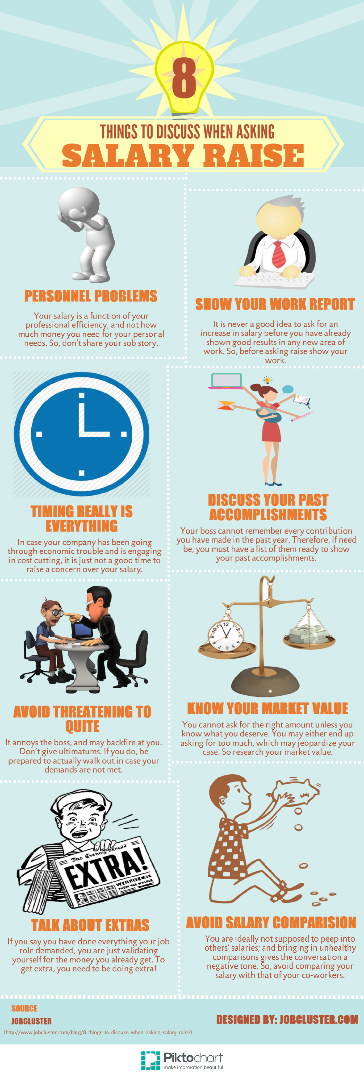 8 Things to Discuss for Asking Salary Raise Infographic