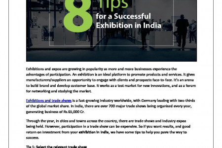 8 Tips for a Successful Exhibition in India Infographic