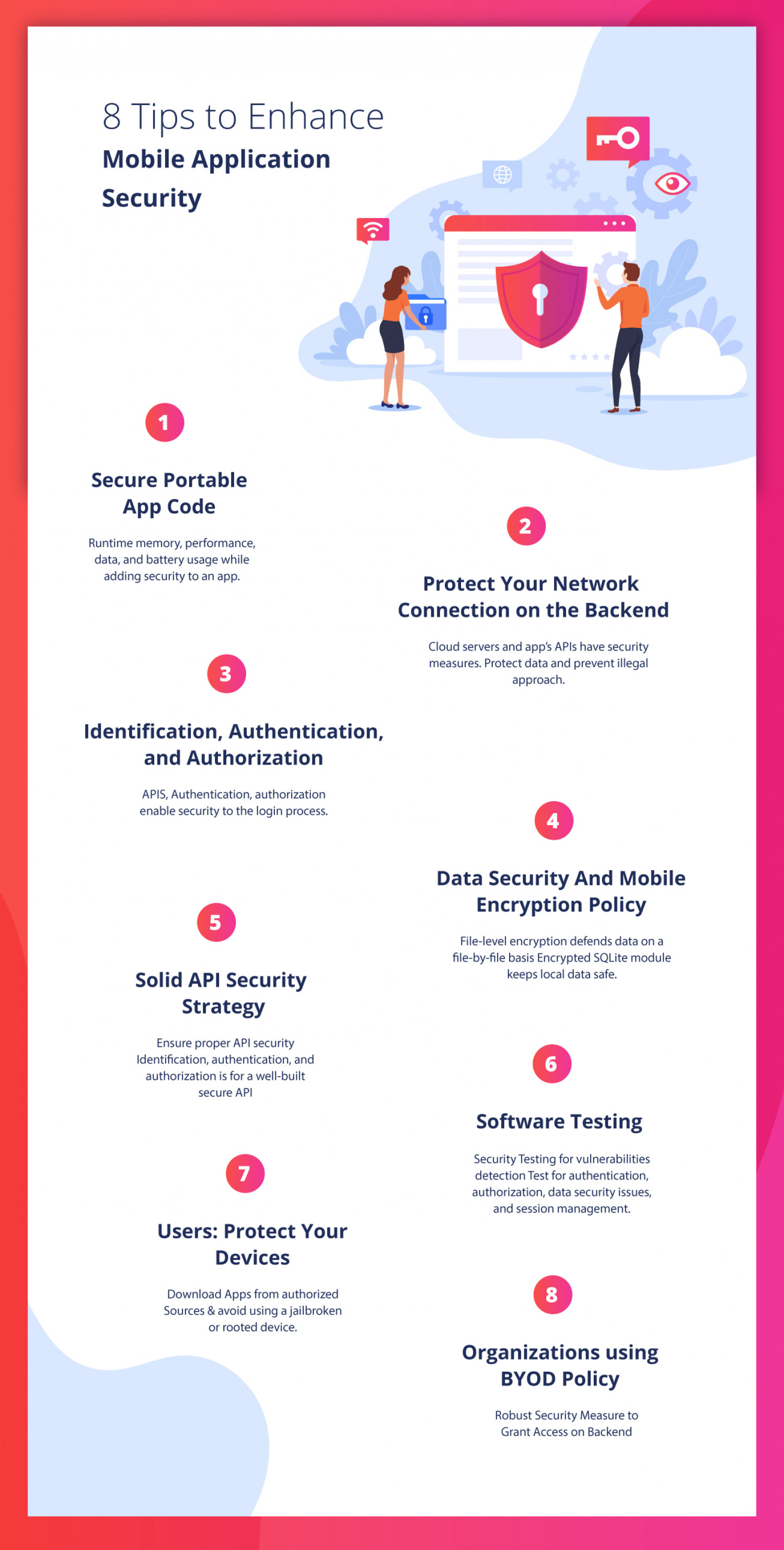8 Tips for Better Mobile Application Security Infographic