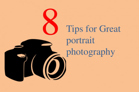 8 Tips for Great portrait photography Infographic