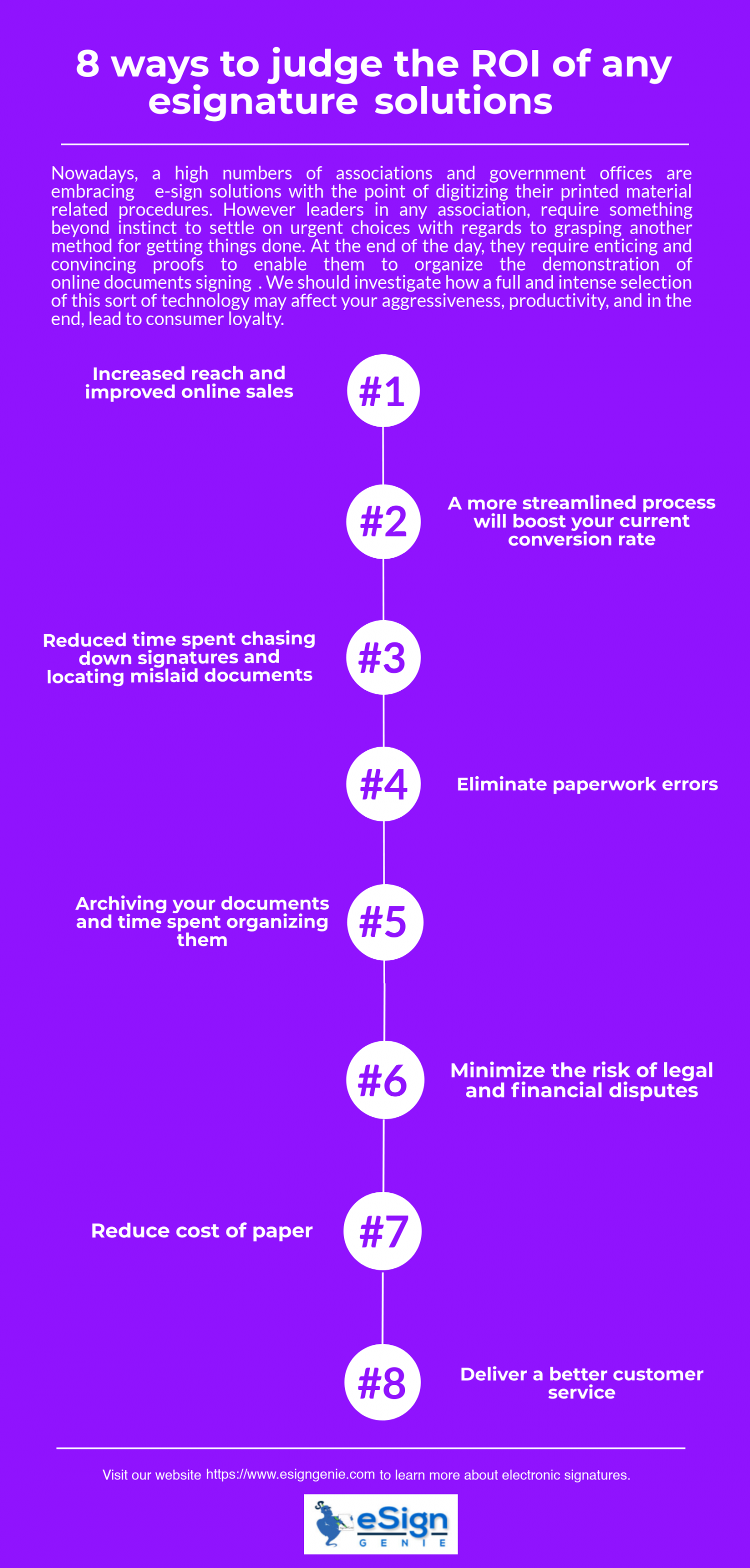 8 tips to derive ROI from any esignature solution Infographic