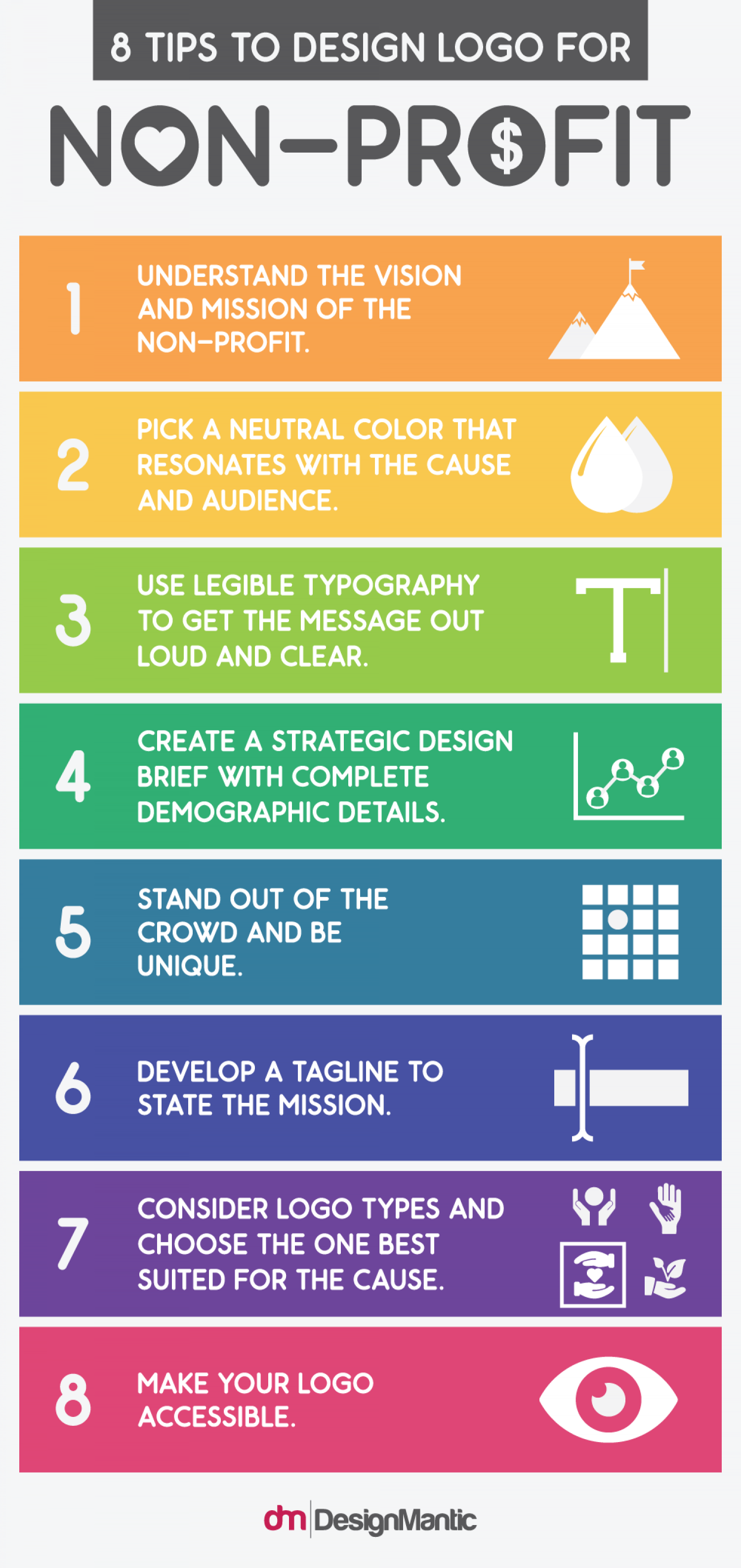 8 Tips To Design Logo For Non-Profit Infographic