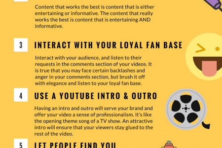 8 Tips to Increase YouTube Popularity Infographic