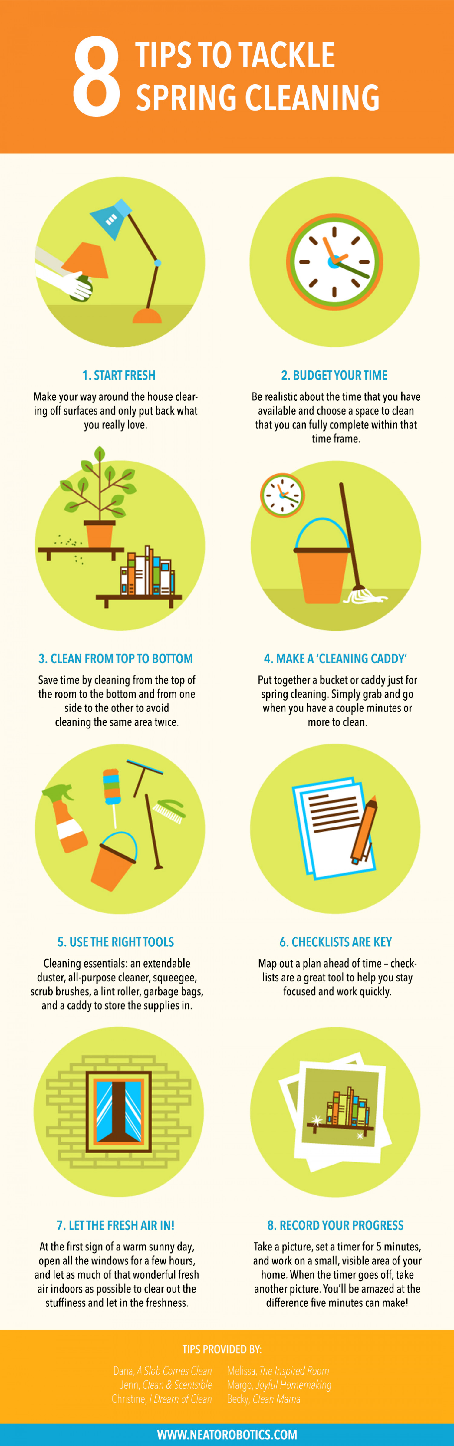 8 Tips to Tackle Spring Cleaning Infographic