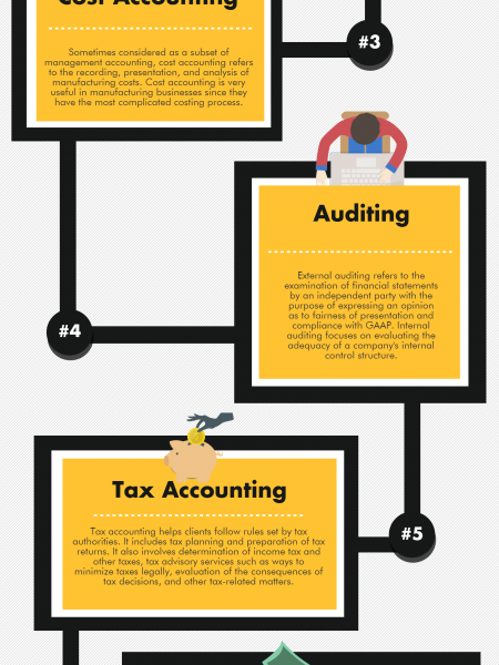 8 Types of Accounting Infographic
