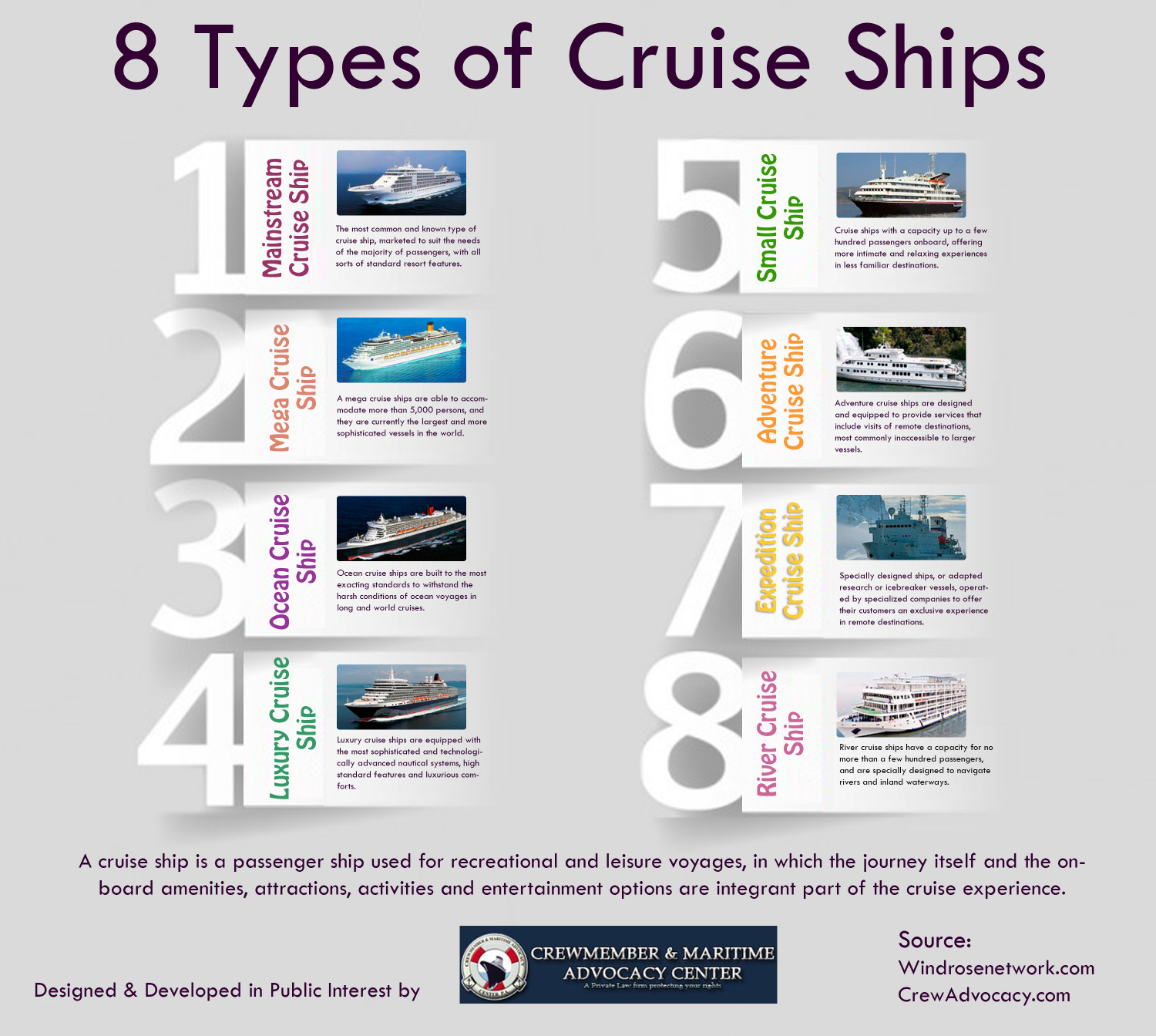 What are the types of ships 22