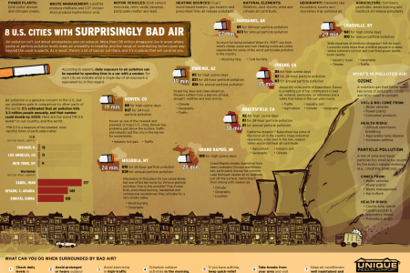 8 U.S. Cities With Surprisingly Bad Air Infographic