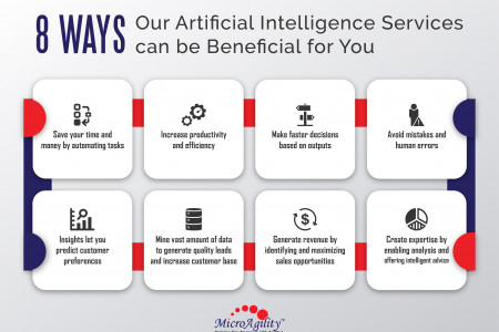 8 ways Artificial intelligence Services can be beneficial for you  Infographic