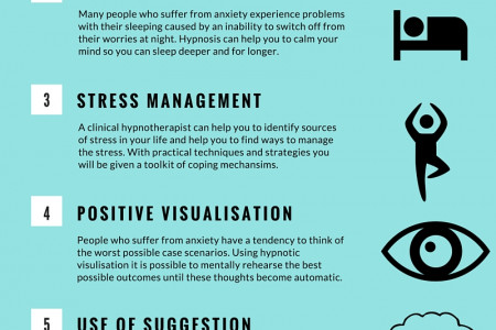 8 Ways Hypnosis Can Help you Beat Anxiety Infographic