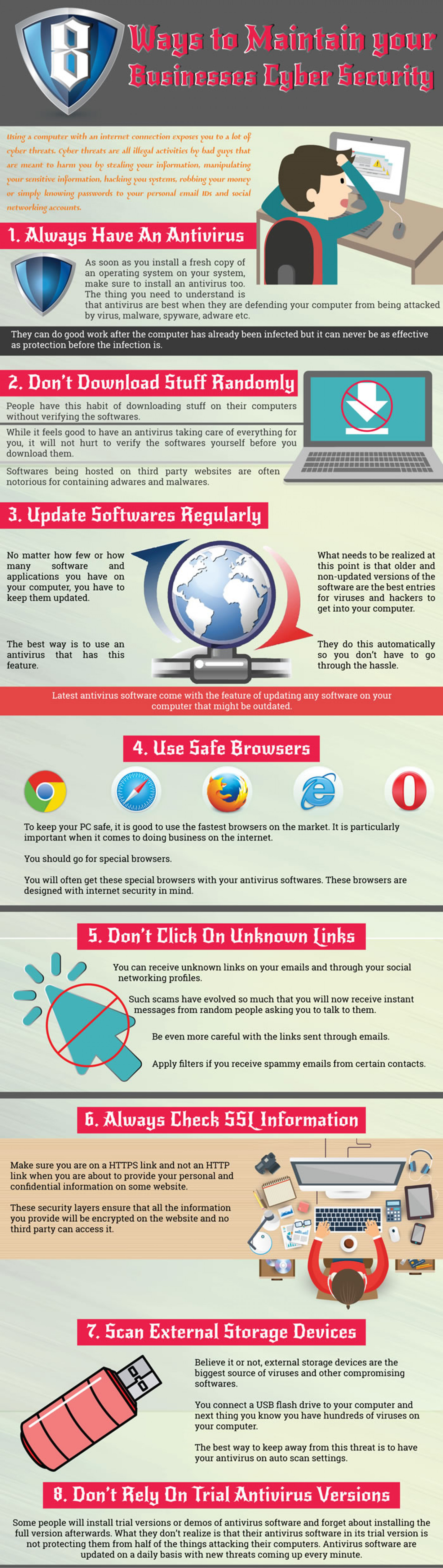 8 Ways to Maintain your Cyber and IT Security Infographic