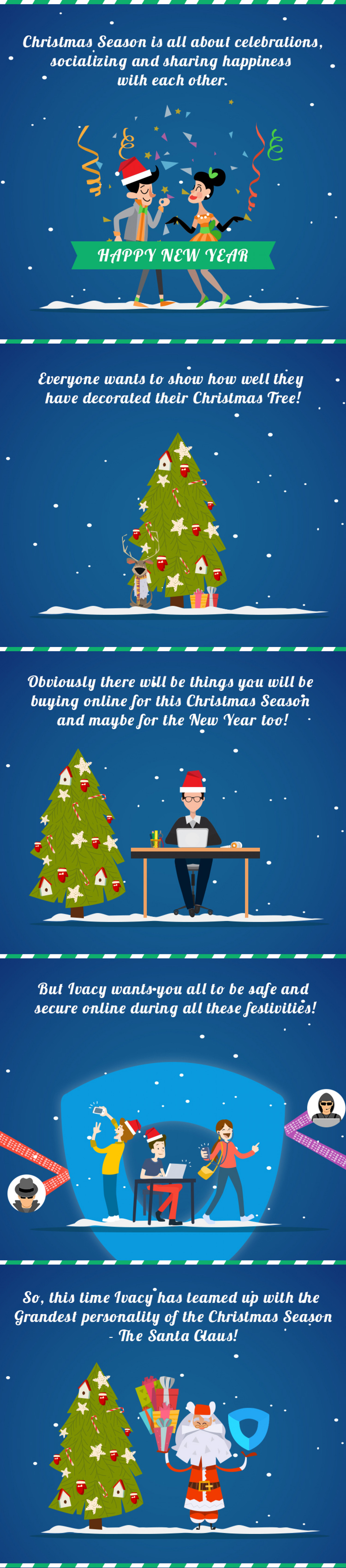 85% Christmas Discount - Ivacy VPN Infographic