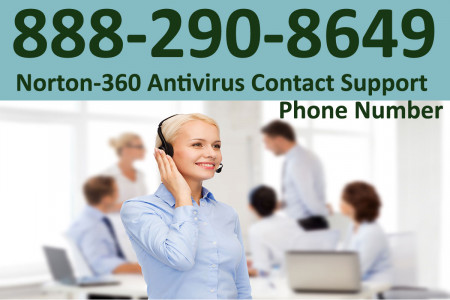 888-290-8649 | Norton-360 Antivirus Contact Support Number Infographic