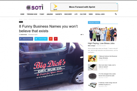 8 Funny Business Names you won't believe that exists Infographic