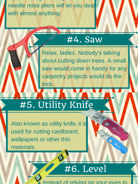10 Tools Every Woman Should Have Infographic
