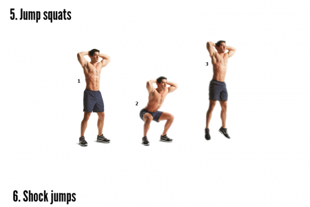 9 Exercises For Jumping Higher in Athletic Infographic