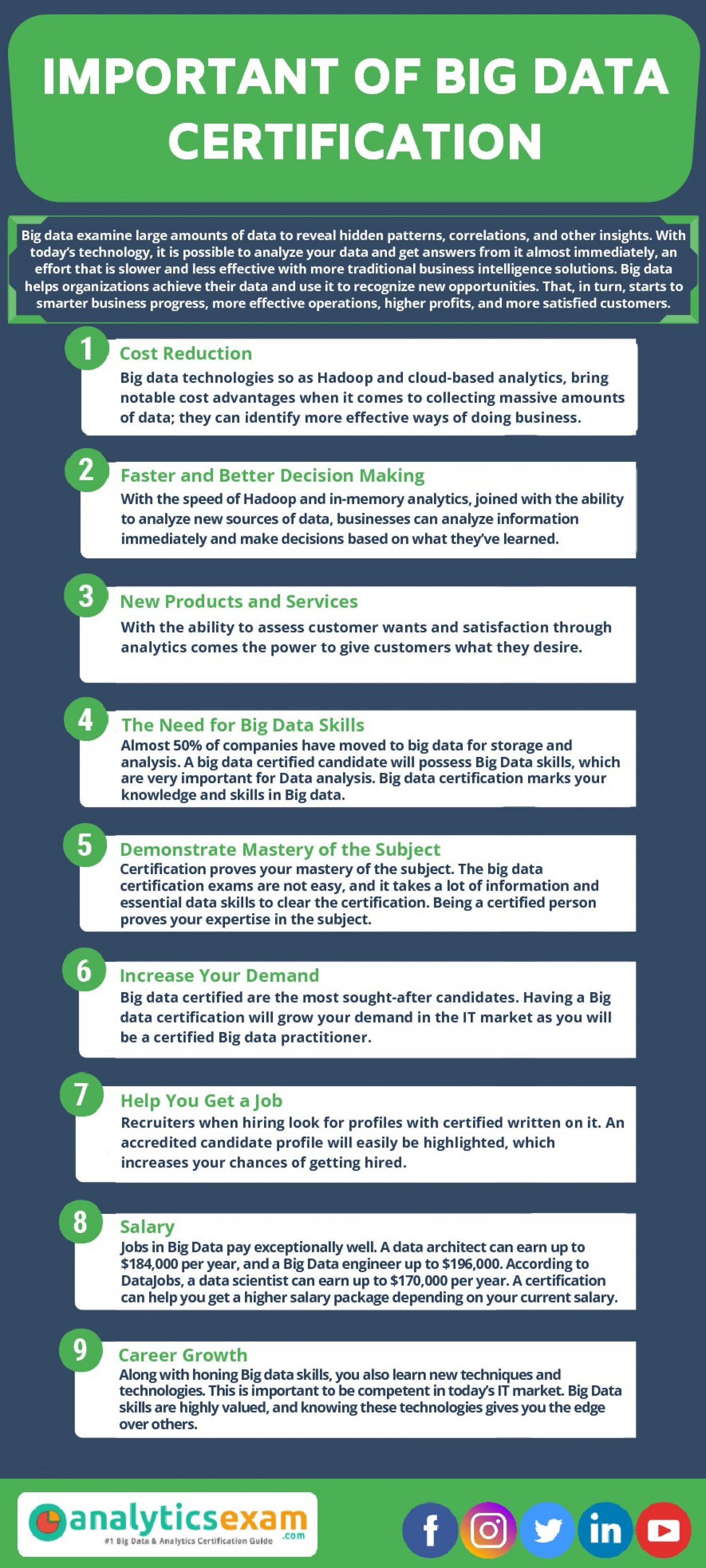 9 IMPORTANT OF BIG DATA CERTIFICATION Infographic