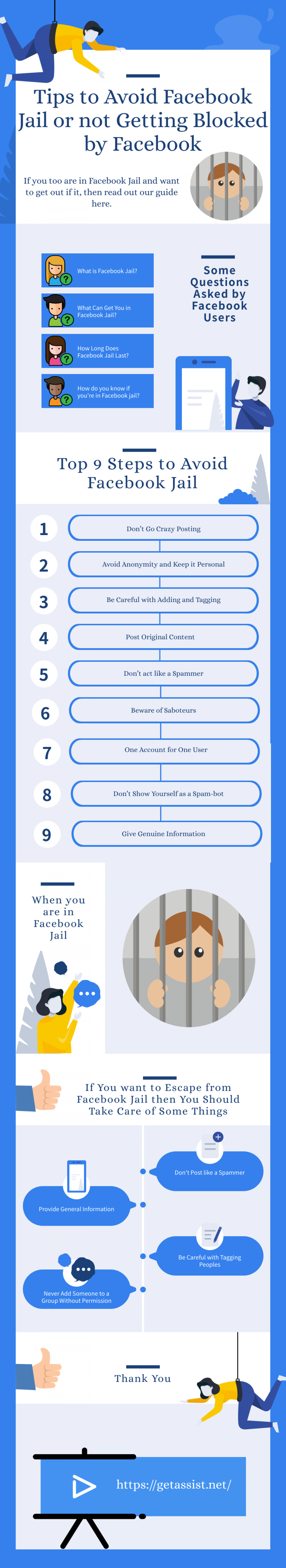 9 Instant Steps to Take to Avoid Facebook Jail Infographic