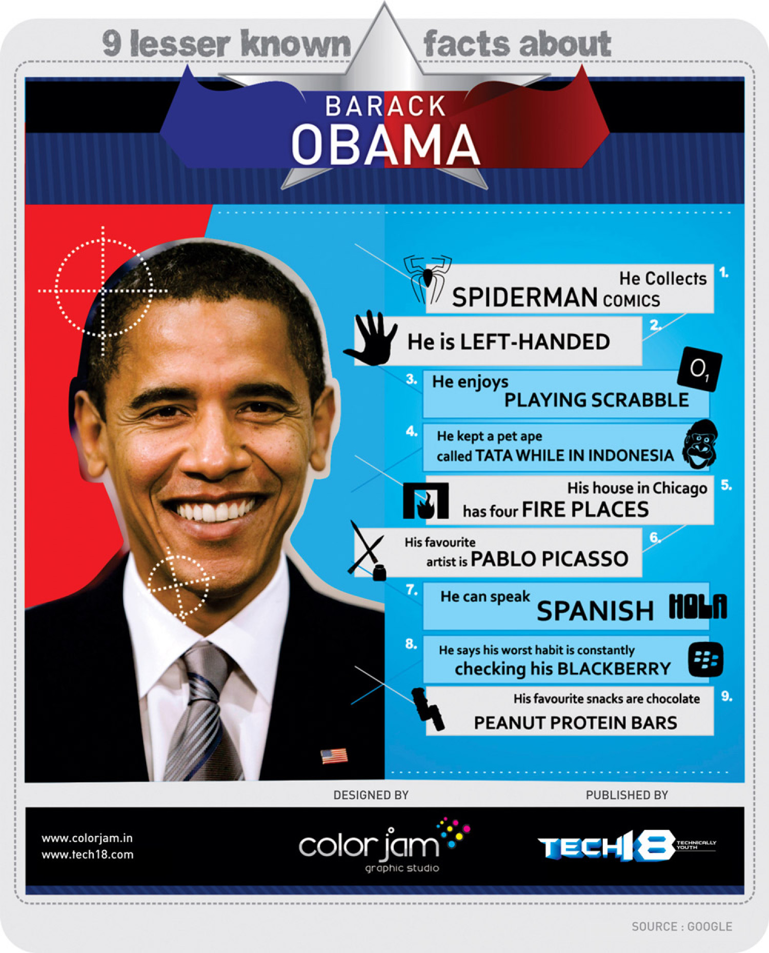 9 Lesser Known Facts About Barack Obama (Infographic) Infographic