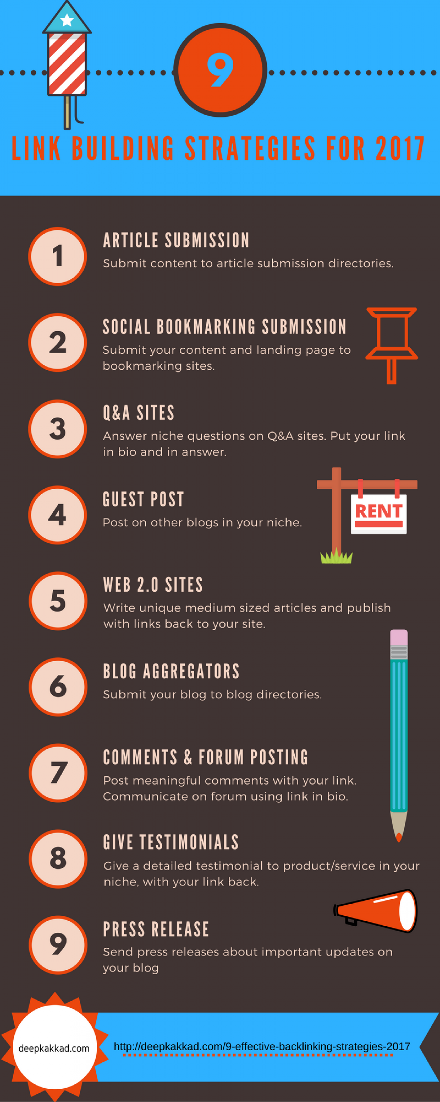 9 Link Building Strategies For 2017 Infographic