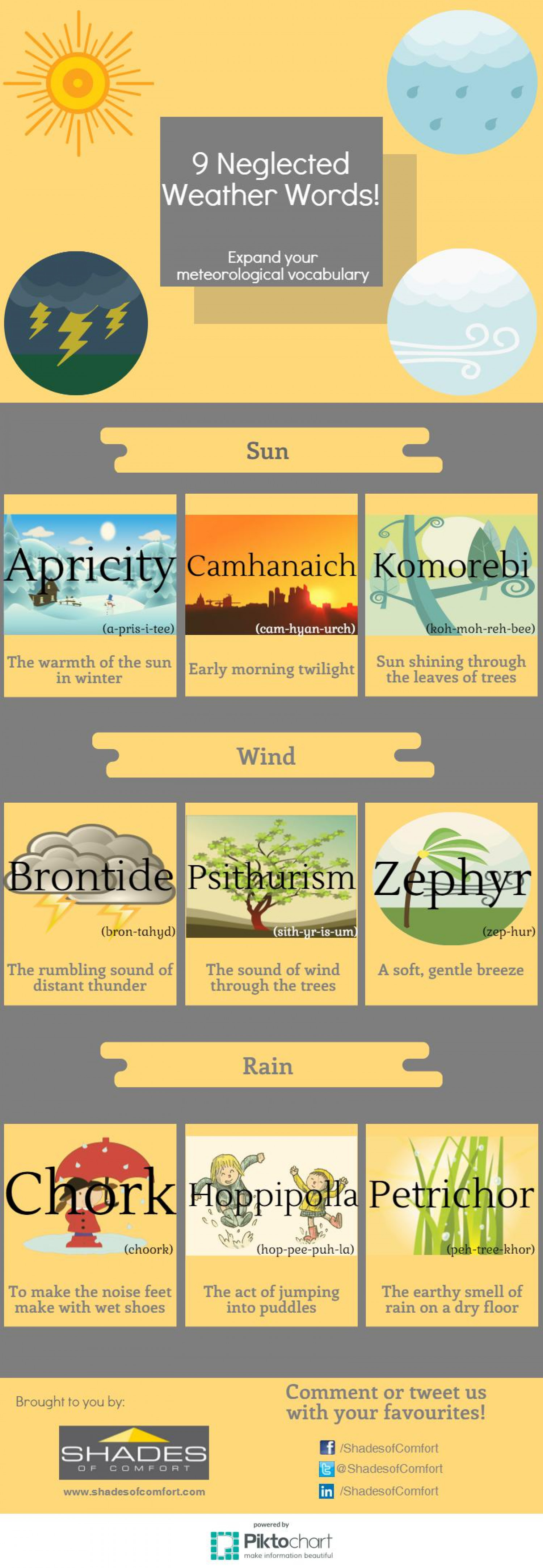 9 Neglected Weather Words! Infographic