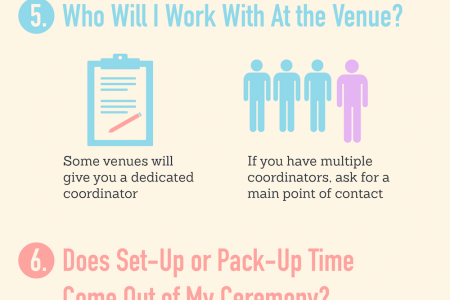 9 Questions to Ask Before Picking Your Wedding Venue Infographic