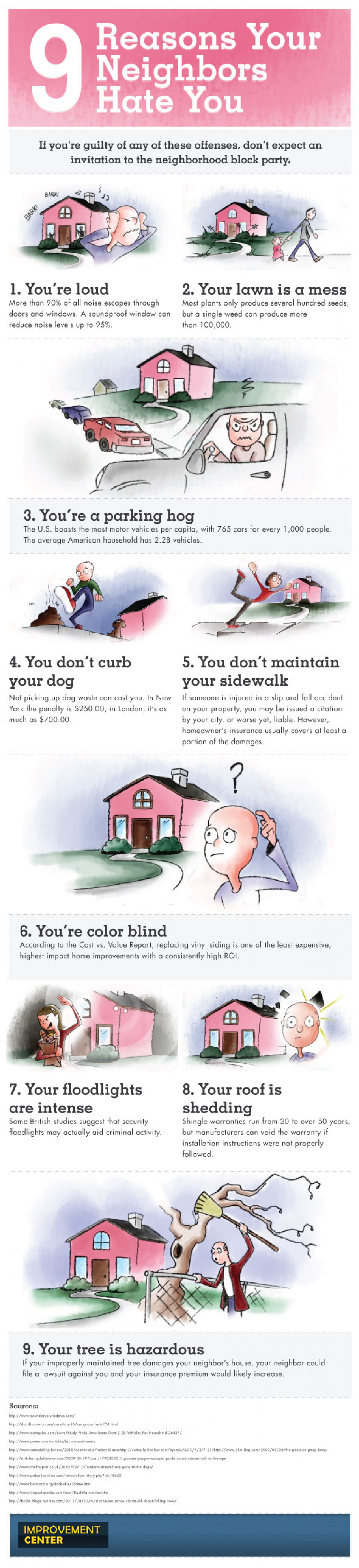 9 Reasons your neighbors hate you Infographic