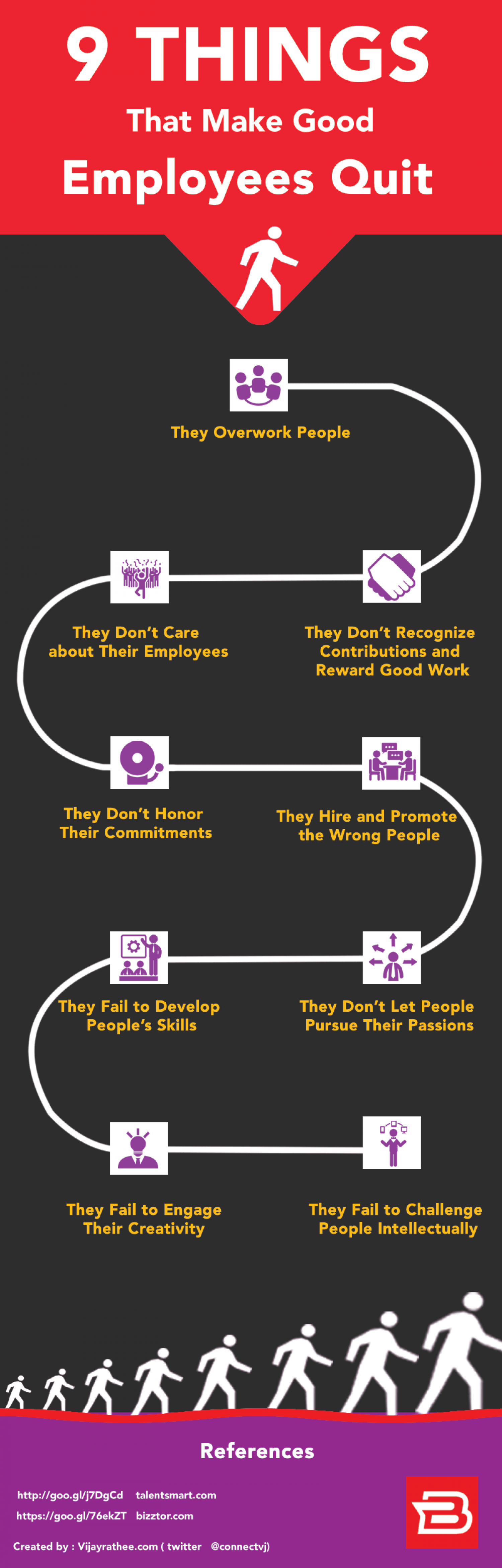 9 Things That Make Good Employees Quit Infographic