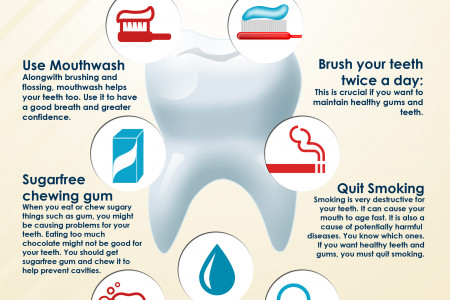 9 Tips For Healthy Teeth Infographic