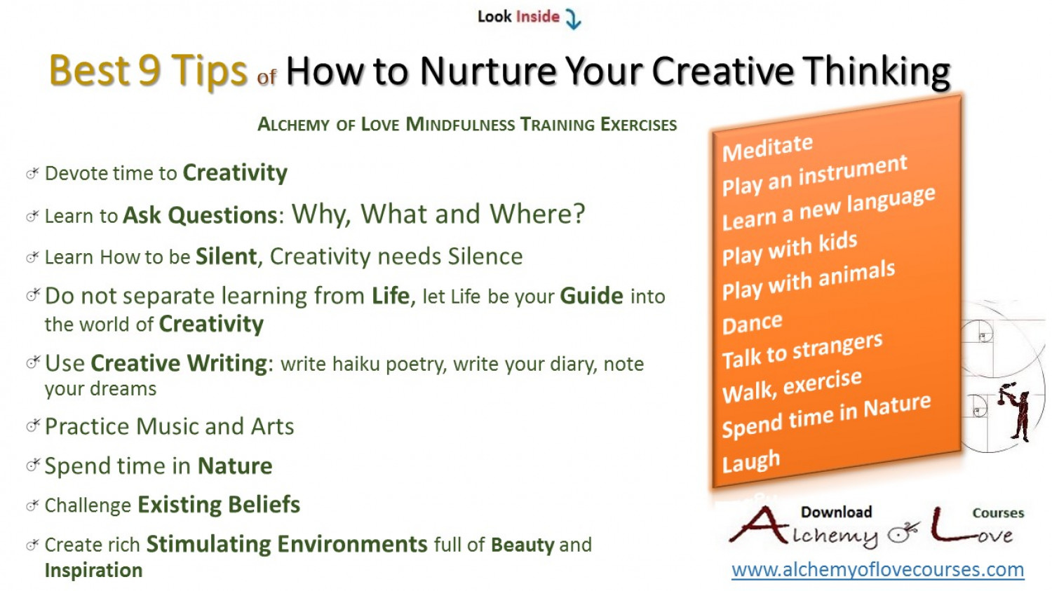9 Tips How to Nurture Creative Thinking Infographic