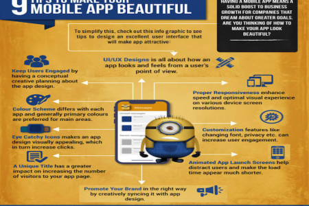 9 Tips To Make Your Mobile App Beautiful Infographic