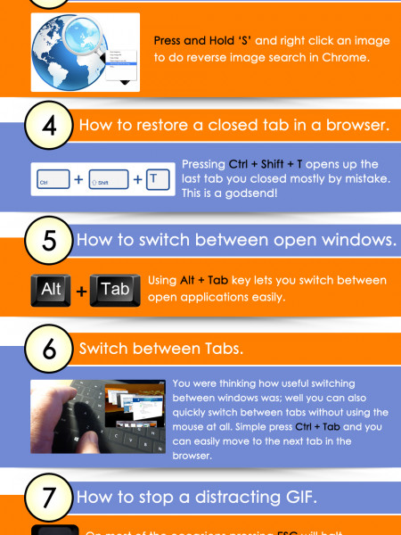 9 Cool Browser Shorcuts Infographic