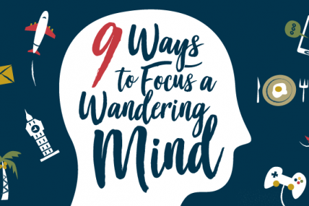 9 Ways to Focus a Wandering Mind Infographic
