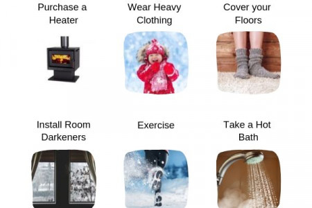 9 Ways to Keep Warm in Winter on A Budget Infographic