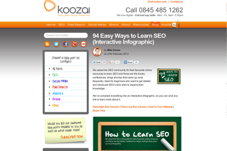 94 Ways to Learn SEO Infographic