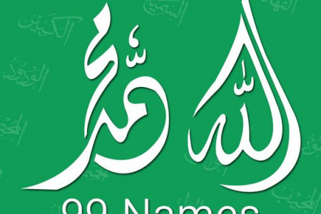 99 Names of Allah and Muhammad SAW Infographic