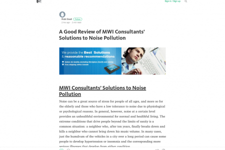 A Good Review of MWI Consultants' Solutions to Noise Pollution Infographic