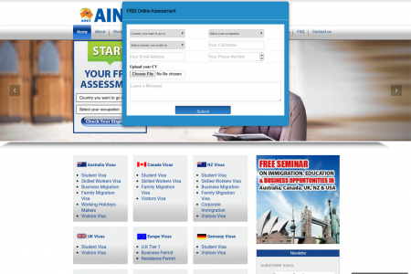 AINiT Immigration Services Infographic