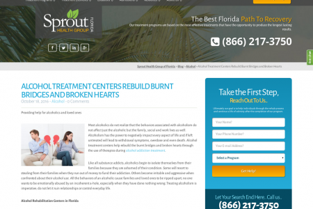 ALCOHOL TREATMENT CENTERS REBUILD BURNT BRIDGES AND BROKEN HEARTS Infographic