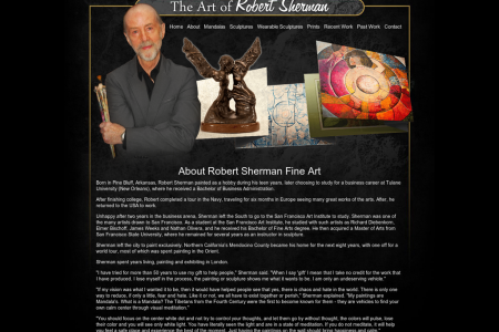 About Robert Sherman Fine Art Infographic