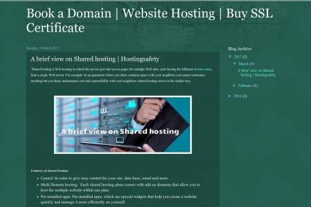 A brief view on Shared hosting | Hostingsafety Infographic