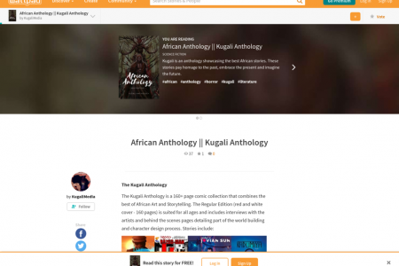 African Anthology || Kugali Anthology Infographic