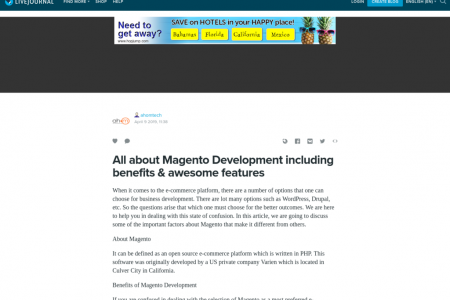 All about Magento Development including benefits & awesome features Infographic