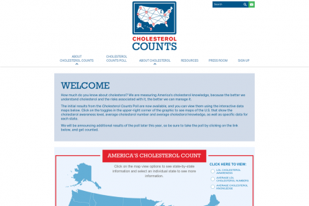 America's Cholesterol Count Infographic