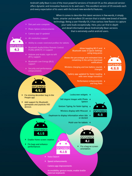 Android Jelly Bean Key Features for Users Infographic