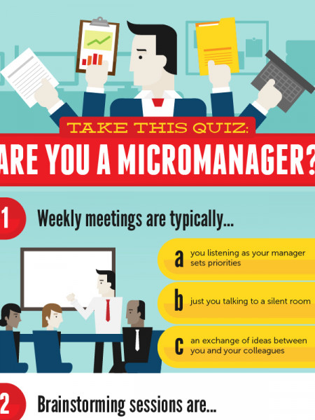 Are You a Micromanager? Take this quiz! Infographic