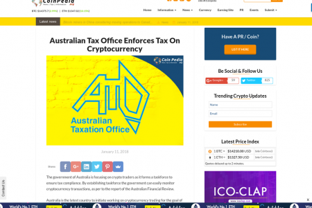 Australian Tax Office Enforces Tax On Cryptocurrency  Infographic