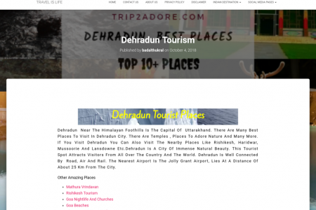 BEST PLACES TO VISIT IN DEHRADUN CITY Infographic